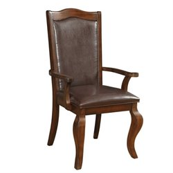 Coaster Louanna Transitional Dining Arm Chair in Cherry