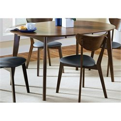 Coaster Malone Modern Dining Table in Walnut