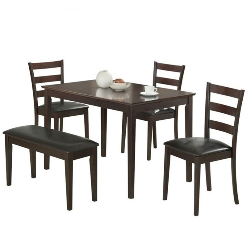 Coaster Taraval 5 Piece Dining Set in Cappuccino and Dark Brown