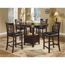 Coaster Lavon 5 Piece Pub Set in Cappuccino and Dark Brown