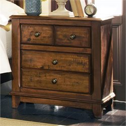 Coaster Laughton 2 Drawer Nightstand in Rustic Brown