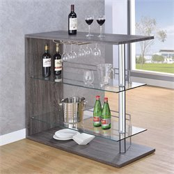 Coaster Rectangular Pub Table in Dark Grey