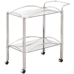Coaster Kitchen Cart in Chrome