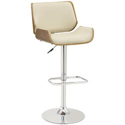 Coaster Adjustable Bar Stool in Cream