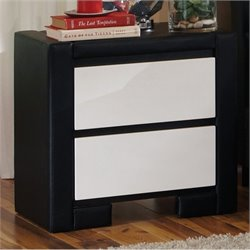 Coaster Kimball 2 Drawer Nightstand in White