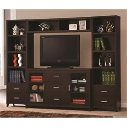 Coaster Entertainment Wall Unit in Cappuccino