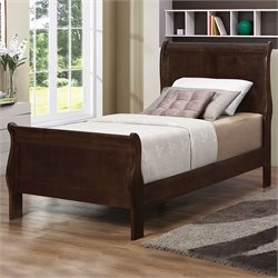 Coaster Louis Philippe Twin Sleigh Bed in Cappuccino