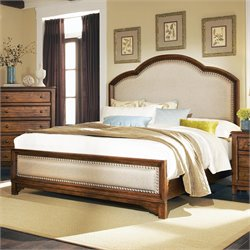 Coaster Laughton Upholstered King Bed in Rustic Brown