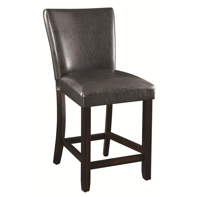 Coaster 24 Quot Faux Leather Upholstered Bar Stool In