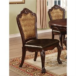 Coaster Benbrook Side Dining Chair in Dark Cherry