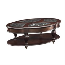 Coaster Amairani 1 Shelf Coffee Table in Dark Merlot