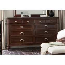 Coaster Sherwood 8 Drawer Dresser in Red Brown