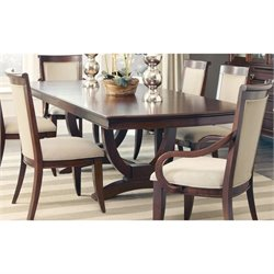 Coaster Alyssa Dining Table in Dark Cognac