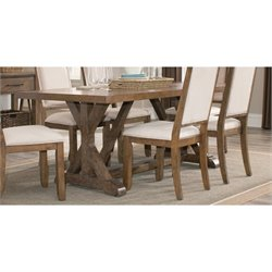Coaster Bridgeport Dining Table in Weathered Acacia