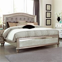 Coaster Bling Game King Bed in Metallic Platinum