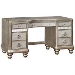 Coaster Bling Game 7 Drawer Bedroom Vanity in Metallic Platinum