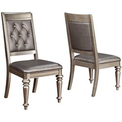 Coaster Danette Dining Chair in Metallic Platinum