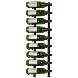 VintageView Wall Mount 18 Bottle Wine Rack in Satin Black