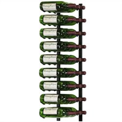 VintageView Wall Mount 27 Bottle Wine Rack in Satin Black