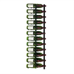 VintageView Wall Mount 36 Bottle Wine Rack in Satin Black