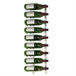 VintageView Wall Mount 18 Bottle Wine Rack in Nickel