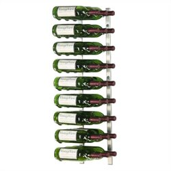 VintageView Wall Mount 27 Bottle Wine Rack in Nickel