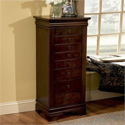 Powell Furniture Louis Philippe Marquis Cherry Jewelry Armoire