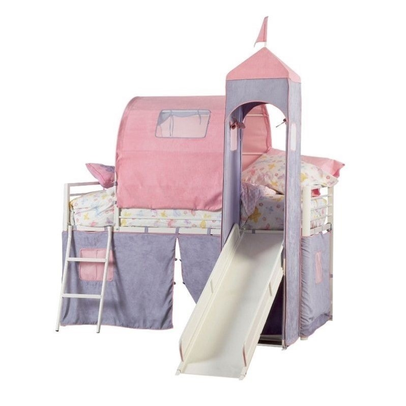 Powell Furniture Princess Castle Twin Metal Loft Bed With