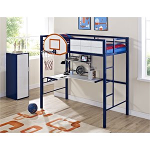 Powell Hoops Basketball Bunk Bed in Blue