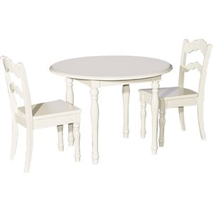 Powell Youth Table and 2 Chairs in Vanilla
