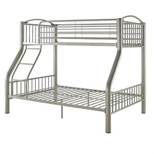 Powell Twin over Full Pewter Bunk Bed in Pewter