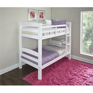 Powell Levi Twin over Twin Bunk Bed in White