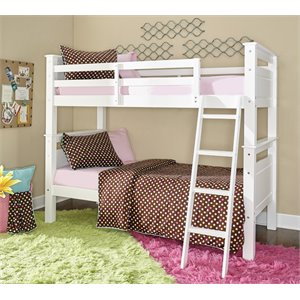 Powell Beckett Twin over Twin Bunk Bed in White