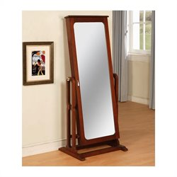 Powell Furniture Marquis Cherry Cheval Mirror Jewelry Wardrobe