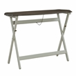 Powell Surrey Folding Wood Console Table in Gray