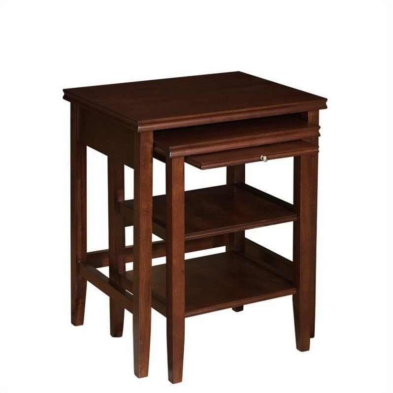 Powell Furniture Shelburne Cherry 2-Piece Nested Tables