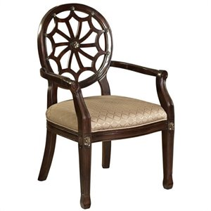 Powell Furniture Spider Web Fabric Arm Chair in Beige