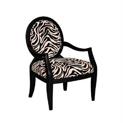 Powell Furniture Zebra Oval Back Accent Arm Chair