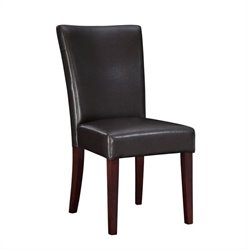 Powell Furniture Brown Bonded Leather Parsons Chair