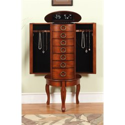 Powell Jewelry Armoire in Woodland Cherry