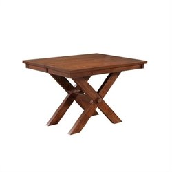 Powell Kraven Gathering Dining Table in Dark Hazelnut