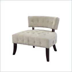Powell Accent Chair in Cream Velour Corduroy