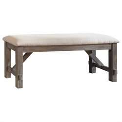 Powell Cafe Turino Dining Bench in Grey Oak Stain