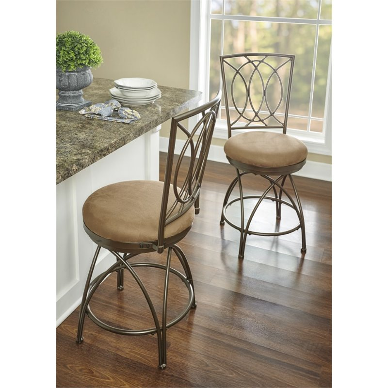 Powell Furniture Big And Tall 24 Quot Counter Stool In Bronze