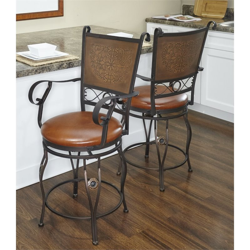 Powell Furniture Big And Tall 24 Quot Swivel Counter Stool In