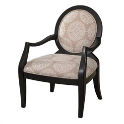 Powell Furniture Batik Fabric Arm Chair in Ivory