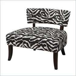 Powell Furniture Lady Slipper Accent Chair in Zebra Print
