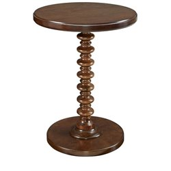 Powell Furniture Round Spindle Accent Table in Kraven