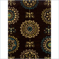 Powell Furniture Bombay Rug Suzani in Brown - 2 x 3