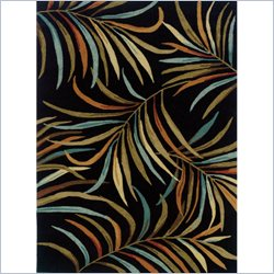 Powell Furniture Bombay Rug Lanai in Black - 2 x 3